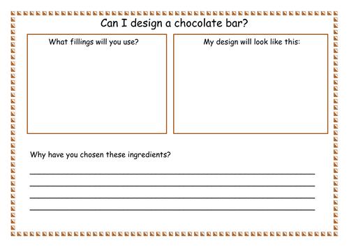 Ks1 Design Topic Can I Design A Chocolate Bar By Missteacher1