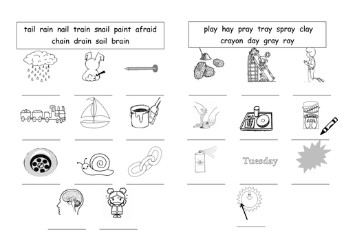 ay Labelling Worksheet long a ay by barang Teaching – Long a Worksheet