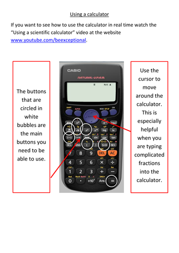 Using a scientific calculator by aw295 teaching resources tes ccuart Choice Image