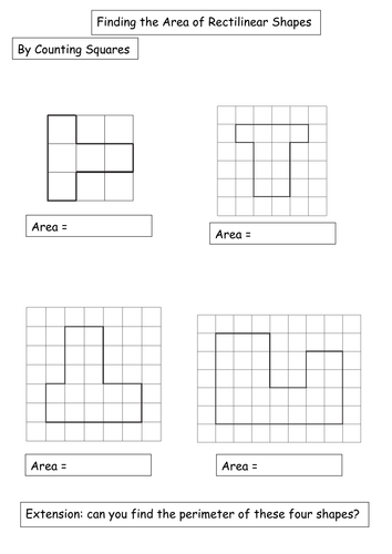 Differentiated Rectilinear Shapes Worksheet By Amwgauss Teaching