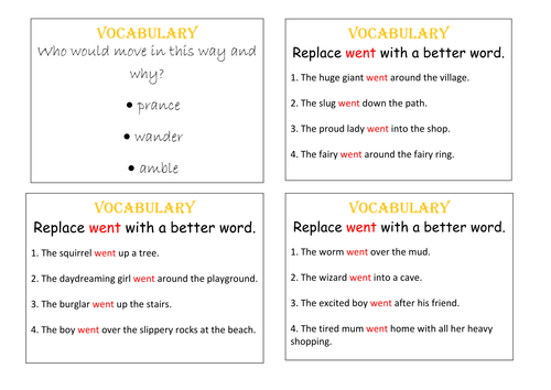 Literacy Challenge Cards 4