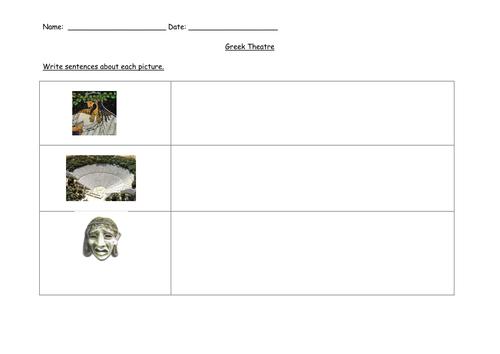 ancient Greece; Greek theatre activity