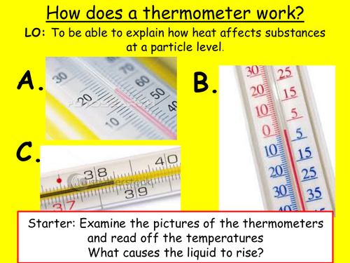 how does the thermometer work It seems that a tutorial page exploring the topic of temperature and thermometers should begin with a simple definition of so exactly how does a thermometer work.