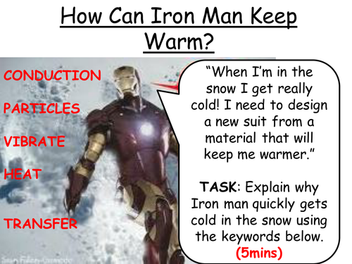 insulation: Keeping Iron man warm...