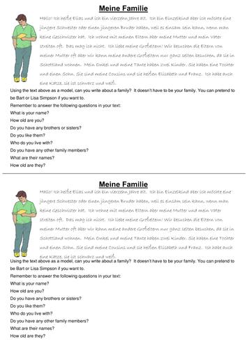 German: Meine Familie