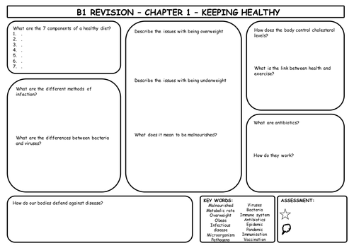 AQA B1 revision sheets by shooppoop | Teaching Resources