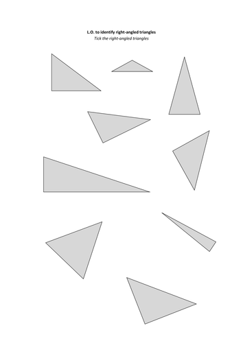 how to find if a triangle is right angled