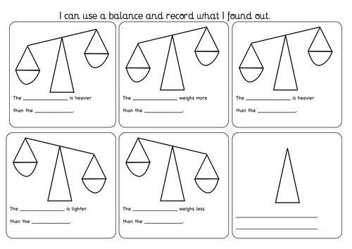 measuring using a balance worksheet by flissiti teaching resources tes. Black Bedroom Furniture Sets. Home Design Ideas