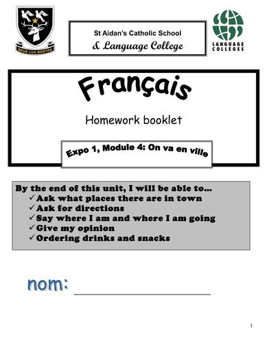 Expo 1 Homework booklet