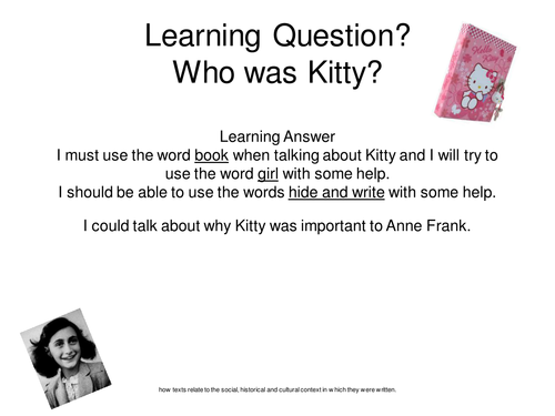 Anne Frank by clairerose2912 - Teaching Resources - TES