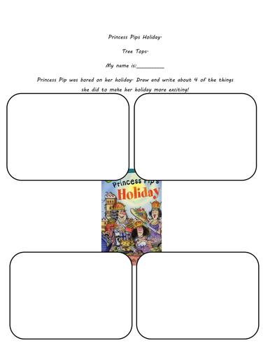 Tree Tops Guided reader narrative writing tasks.