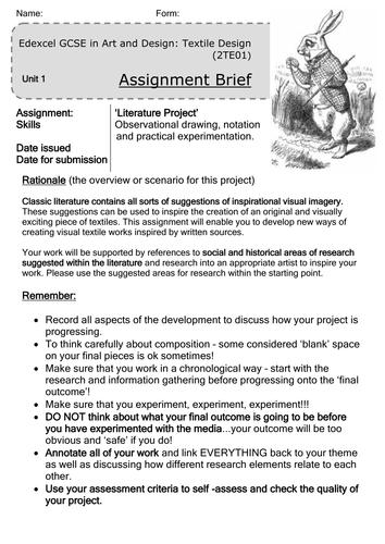 Edexcel Art & Design GCSE coursework project