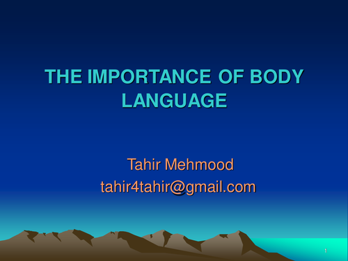 the importance of body language in presentation essay