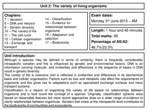 aqa unit 5 biology essay mark scheme Biol2 – the variety of living organisms  mark scheme  2410  june 2014  mark scheme – a-level biology – biol2 – june 2014 3 of 15  information clearly and coherently and have used the specialist vocabulary indicated in the mark scheme for this unit.