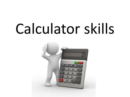 Calculator skills revision lesson