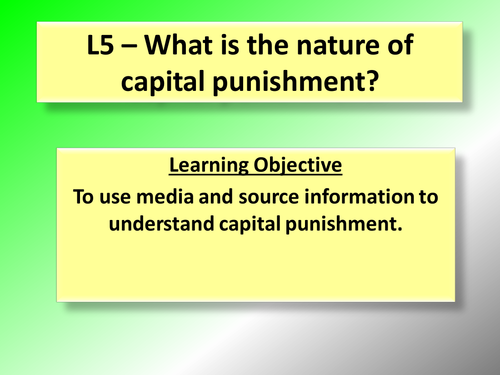 an understanding of capital punishment On crime, punishment, and reform of the criminal justice system kalyn p hoggard florida atlantic university the purpose of.