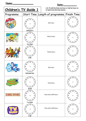 Time later and before differentiated worksheets by clara5 | Teaching ...