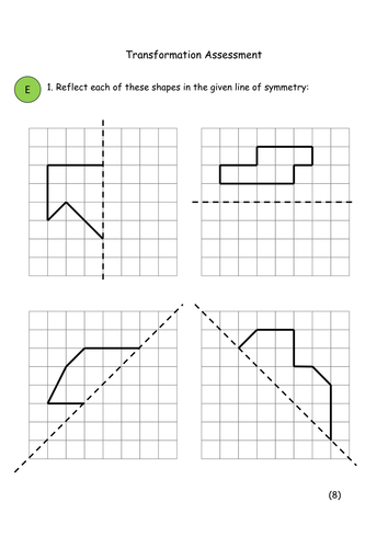 Worksheets Combined Transformations Worksheet ks4 maths transformation worksheets by kathrynjsanders teaching resources tes