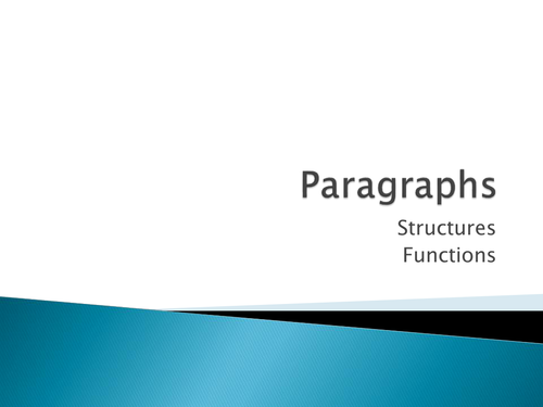 Importance of Paragraphs