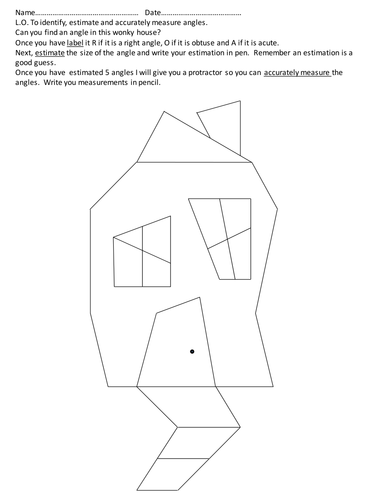 Wonky house angles by chunt86 teaching resources tes for Right angle house