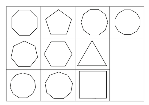 Properties of Regular Polygons Cut and stick by alexwoodforth1 – Properties of Polygons Worksheet