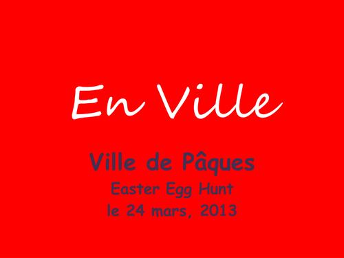 En Ville + Directions - Easter Theme