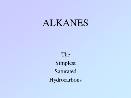 Alkanes, physical and chemical properties