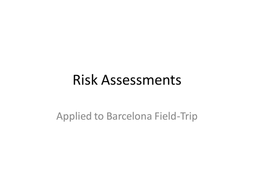risk assessment forms by chalkie bunny teaching resources tes