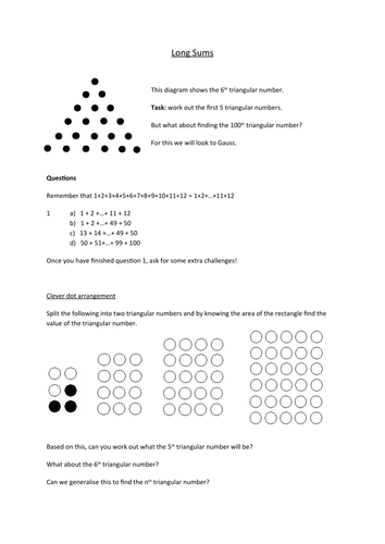 Introduction to triangular numbers