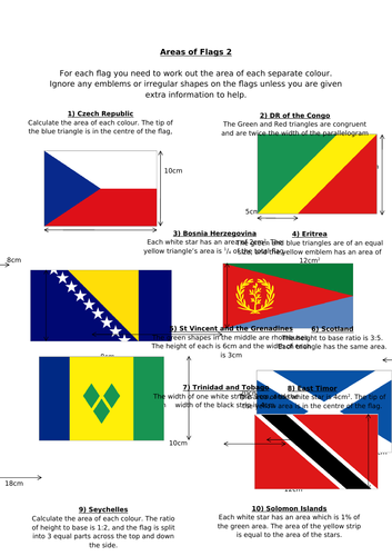 Areas of Flags
