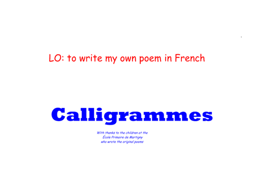 write poetry in french ks2 and ks3 by vivfre1 teaching resources. Black Bedroom Furniture Sets. Home Design Ideas