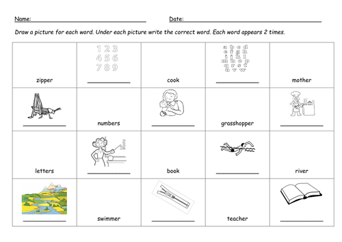 er digraph worksheet