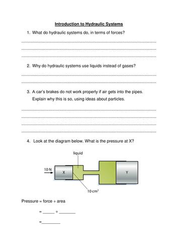 Hydraulics worksheet