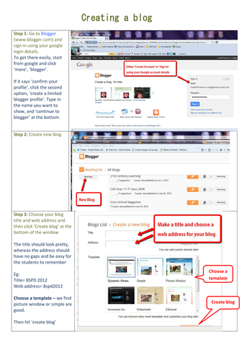 How to create a Blogspot blog - for beginners
