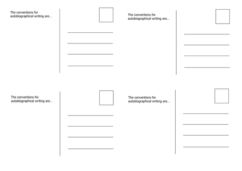 Postcard Templates By Emkate Teaching Resources Tes