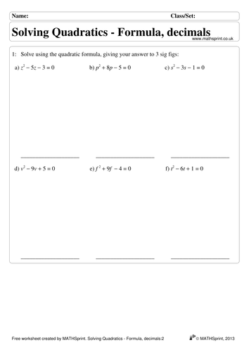 Quadratic Equations Practice Questions Solutions By Transfinite