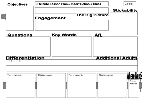 Paperless 5 Minute Lesson Planner By Nosnomolas Teaching Resources