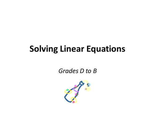 Differentiated solving linear equations worksheet by Vestypops – Solve Linear Equations Worksheet