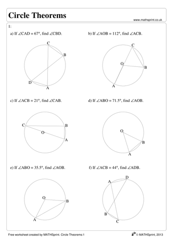 Quadrilateral Worksheet