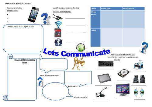 Edexcel GCSE ICT Unit 1 - Digital World activity