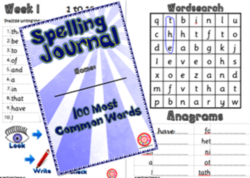 Letters & Sounds High Frequency Spelling Journals
