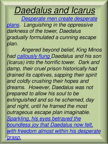 daedalus and icarus plot summary