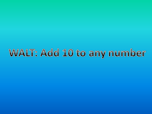 Add 10 and Subtract 10 from any number by claire013224 - Teaching ...