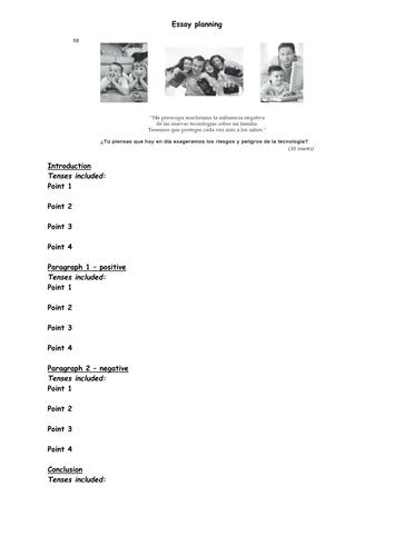 KS5 AQA Y12 Spanish example model essay AS level by miss