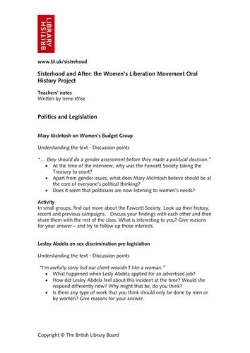 Sisterhood and After: Women's Liberation Movement