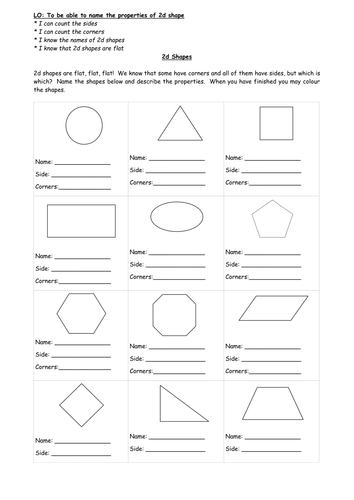 2d shape properties sheet by traceyweikimlow teaching resources. Black Bedroom Furniture Sets. Home Design Ideas
