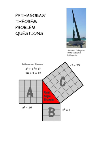 Differentiated Pythagoras' Theorem Questions by mallan824 ...