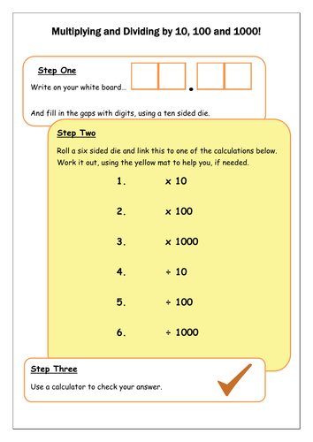 English In Italian: Multiply And Divide By 10, 100 And