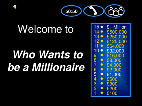 Functional Skills Who Wants to be a Millionaire