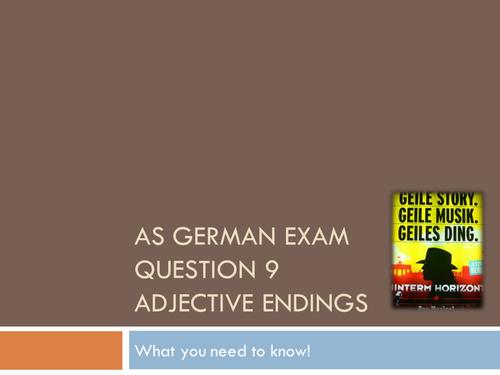 AQA AS German Question 9